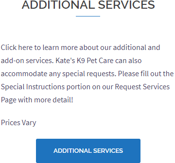 Additional Pet Care Services