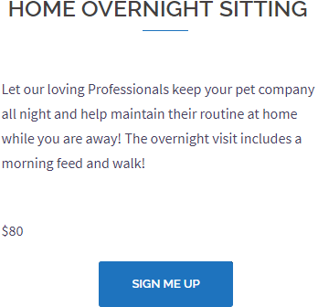 Pet Home Overnight Shitting Service