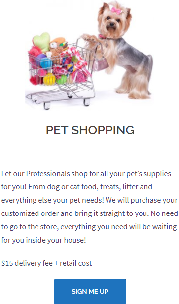 Pet Shopping